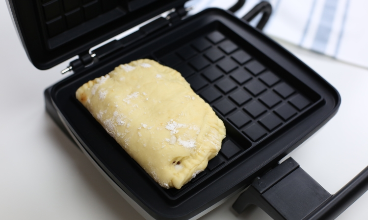 filled waffle calzone pizza pocket