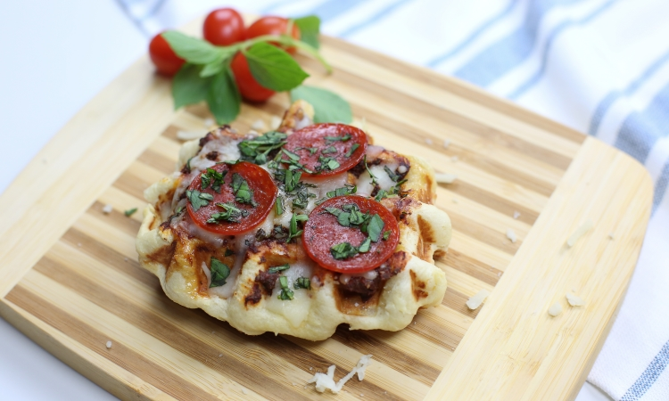 baked pizza liege waffle