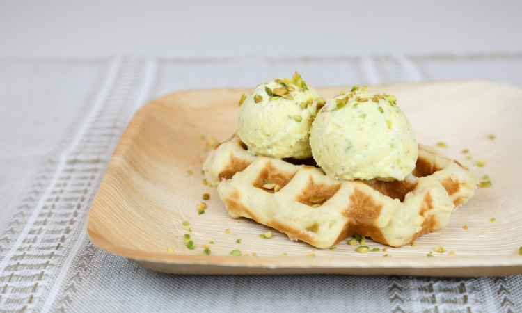liege waffle ice cream scoop