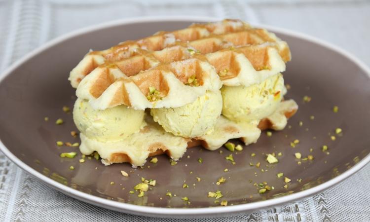 liege waffle ice cream sandwich