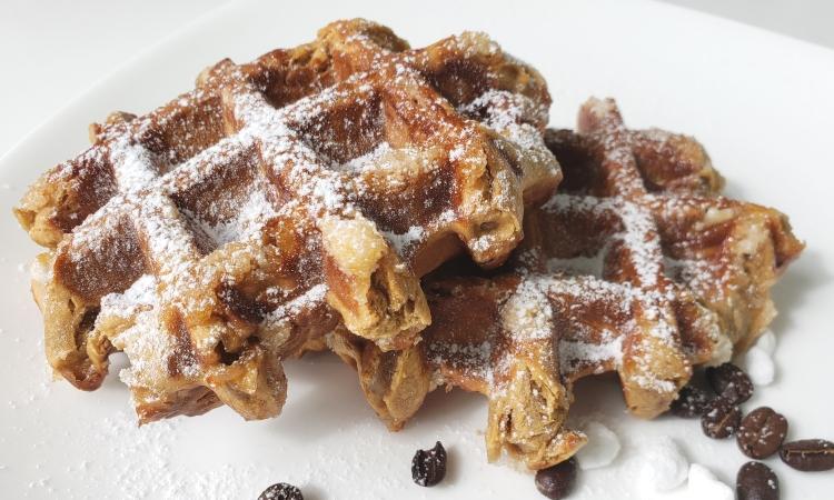 Coffee infused Belgian Liege waffle