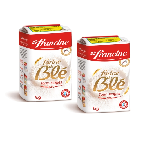 Francine French Wheat Flour T45 (Pack of 2)