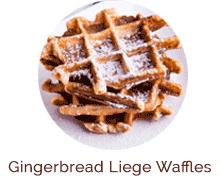 Gingerbread Liege Waffles